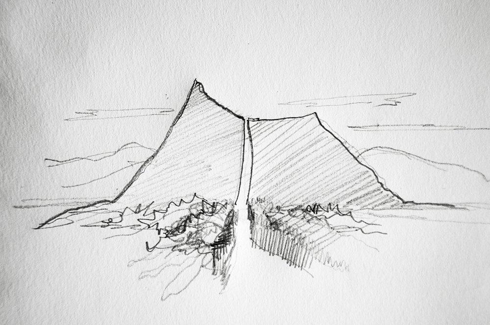 Sketch de cerro Lagarto