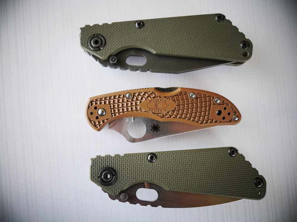 Strider SnG Tanto & Spearpoint Size Comparision 2