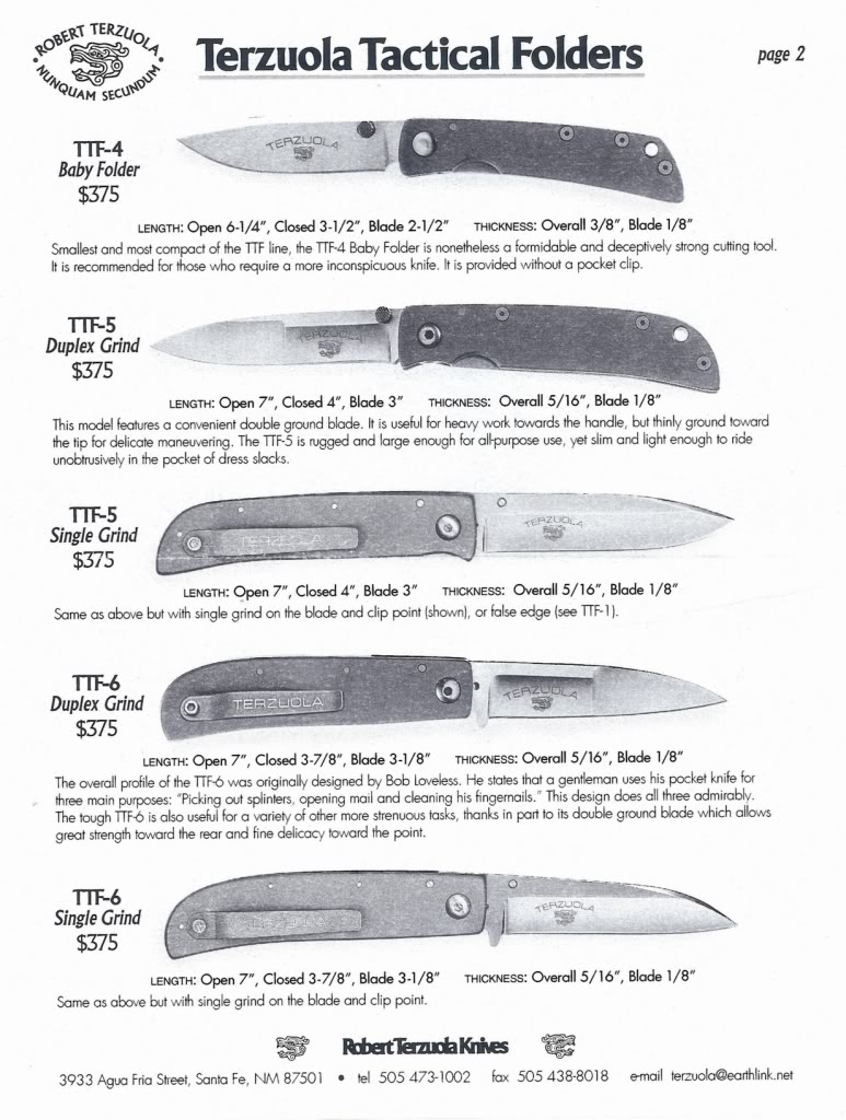 Production tactical folders from the early to mid 90s. All follow the Terzuola formula. From the top; Spyderco Military, Benchmade Emerson CQC7, and Benchmade AFCK.