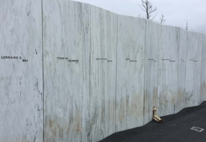 Wall of names memorializing the Flight 93 victims
