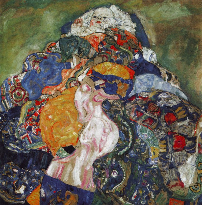 Baby (Cradle) - 1917 - by Gustav Klimt, National Gallery of Art, Washington, D.C.