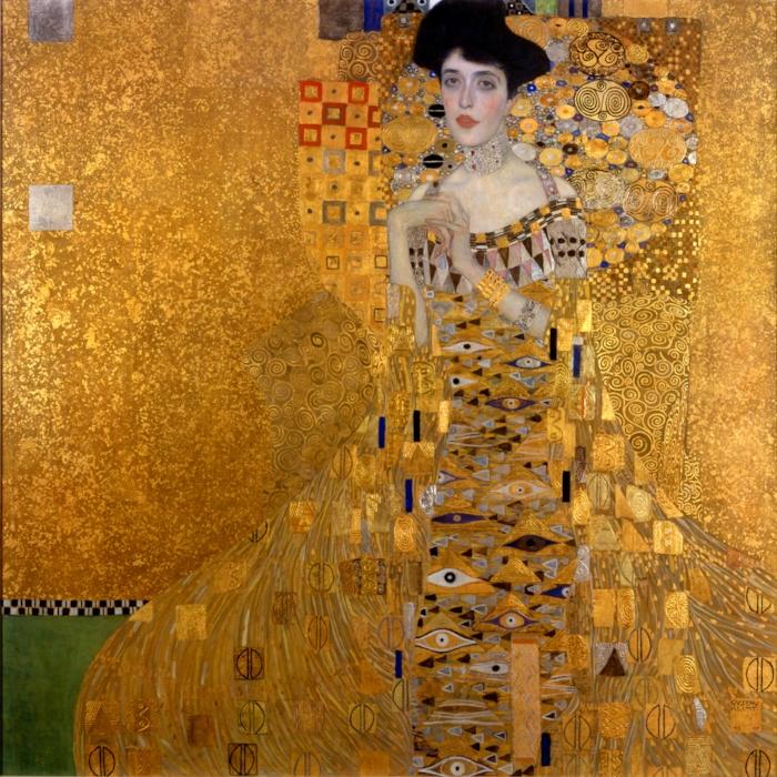 Portrait of Adele Bloch-Bauer I - 1907 by Gustav Klimt - Neue Galerie, NY