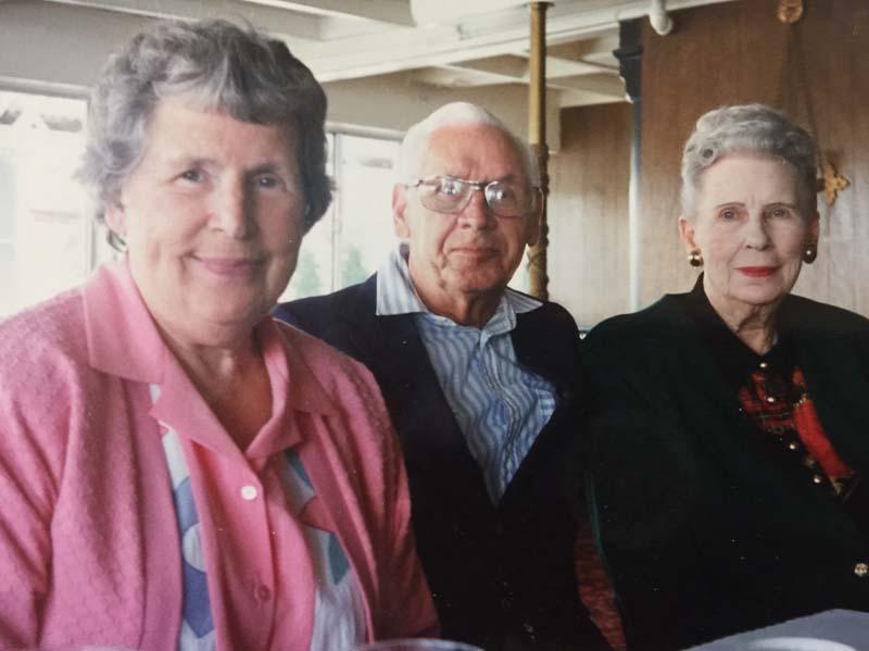 Marion DeKoning Hayek, Robert Hayek, and Edith DeKoning Inches in Portland, OR