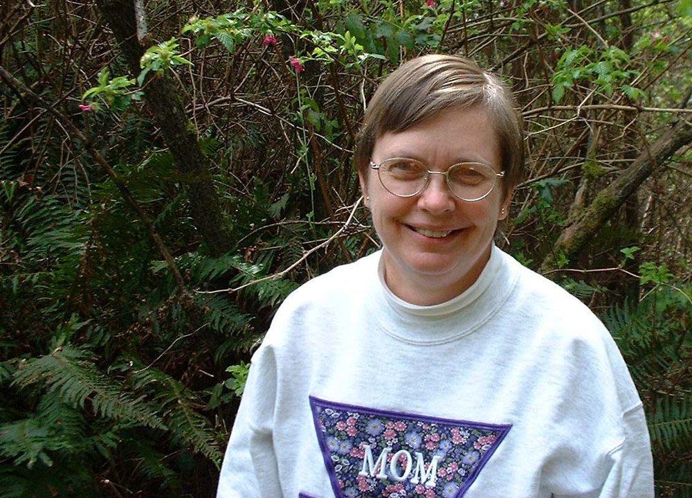 Carolyn Hayek proudly wearing her Northwestern University Mom shirt
