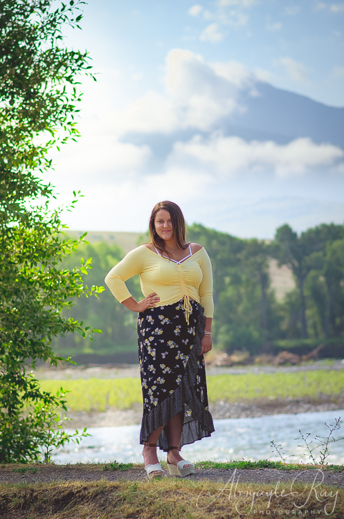 How beautiful is this! Beautiful Livingston Peak with a Beautiful Tomiyah! 💕💕  Senior Photography by  Abigayle Ray Photography LLC  at  Sacajawea Park in The  City of Livingston, Montana  and  Livingston Peak
