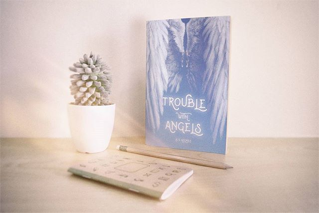 / Trouble with Angels / Available for free now on my website! / Cover by @thomasobriencreative ~ ~ ~ ~ ~ ~ #GraphicDesign #FineArt #Design #Graphics #photoshop #artwork #Illustrator #Logos #Tshirts #DesignYourMind #DigitalArt #Dots