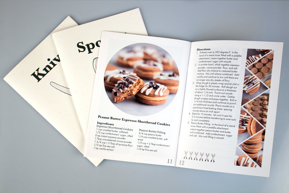 A snapshot of some recipe books I designed