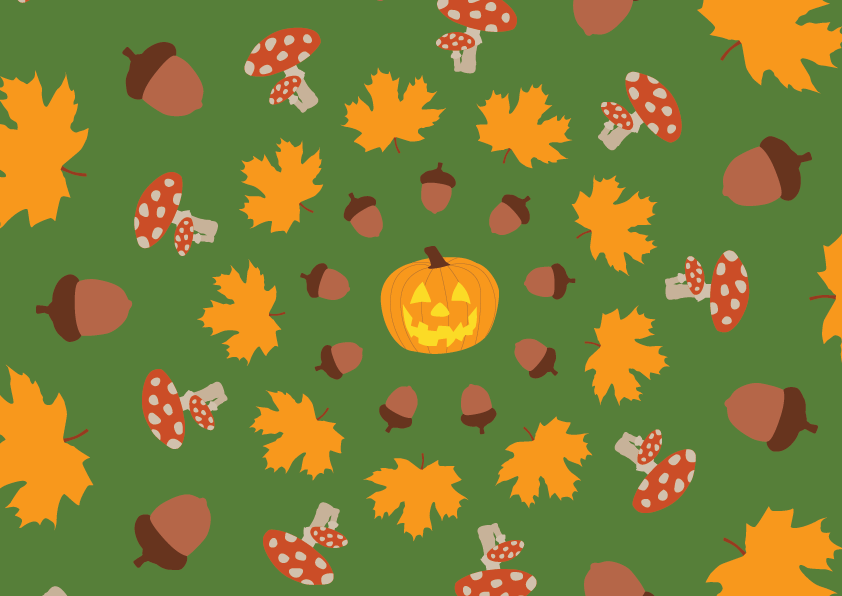 Autumn circle for a music animation