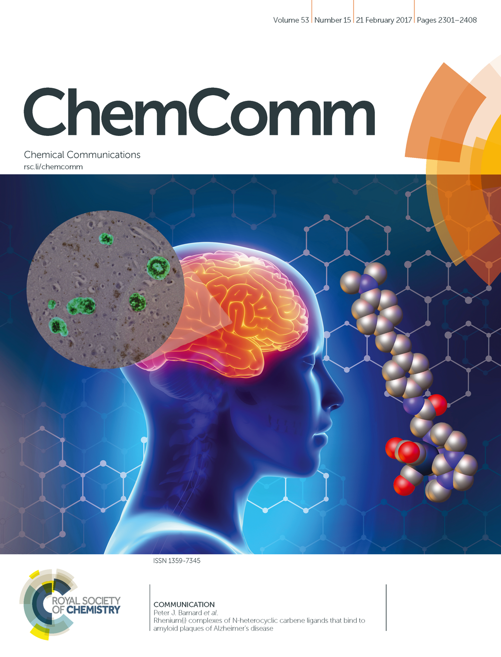- Cover art features Alzheimer's disease research by Dr Peter Barnard, La Trobe University.