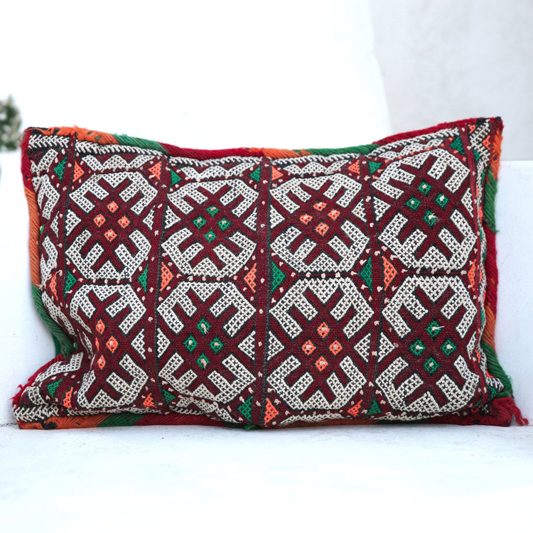 moroccan red print bolster pillow we are creative adventurers