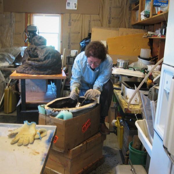 Kathleen-Pic-LH-studio-wax-otter-mold-2010.jpg