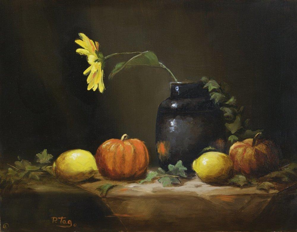 Single Sunflower   - Phyllis Tag