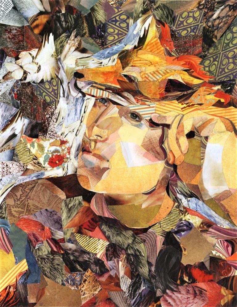 Becoming the Fox   - Jennifer Ogden  Framed Collage