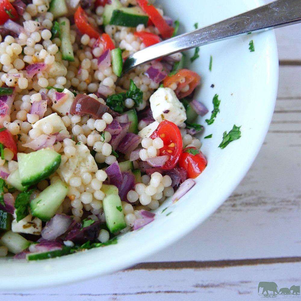 Israeli Couscous Salad with Feta