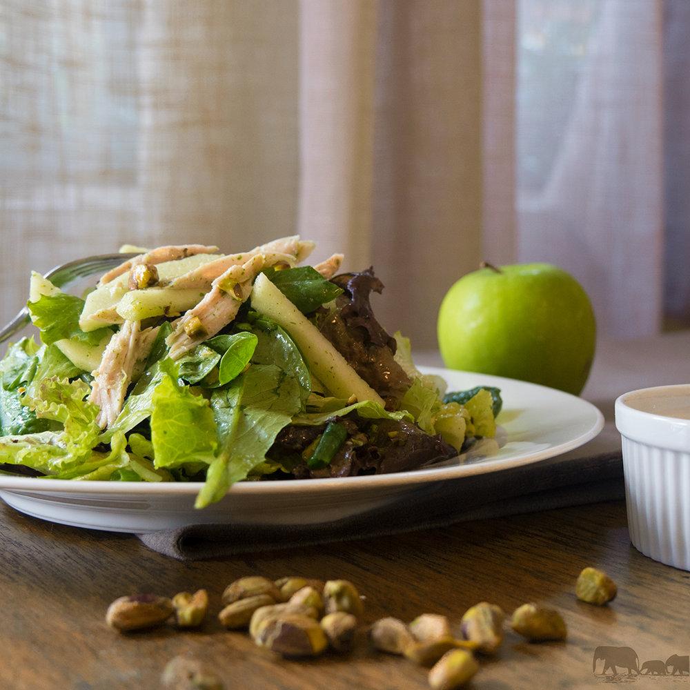 Turkey Green apple salad with Mint Dressing
