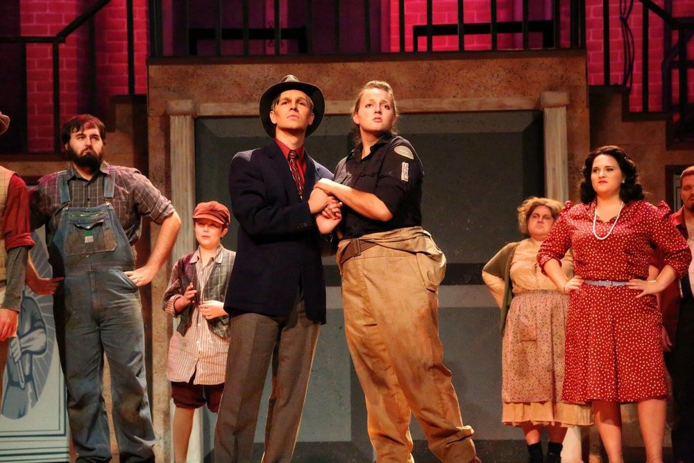 Penelope Pennywise and Caldwell B. Cladwell, Urinetown, East Texas Baptist University, 2014