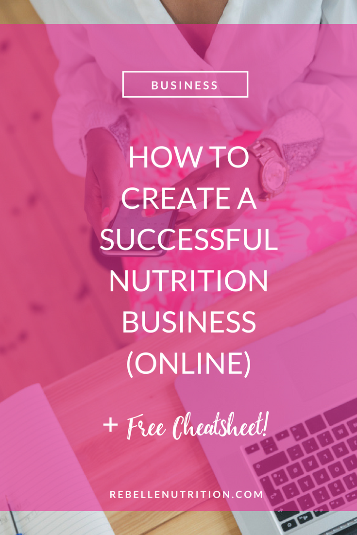 How To Create A Successful Online Nutrition Business Rebelle