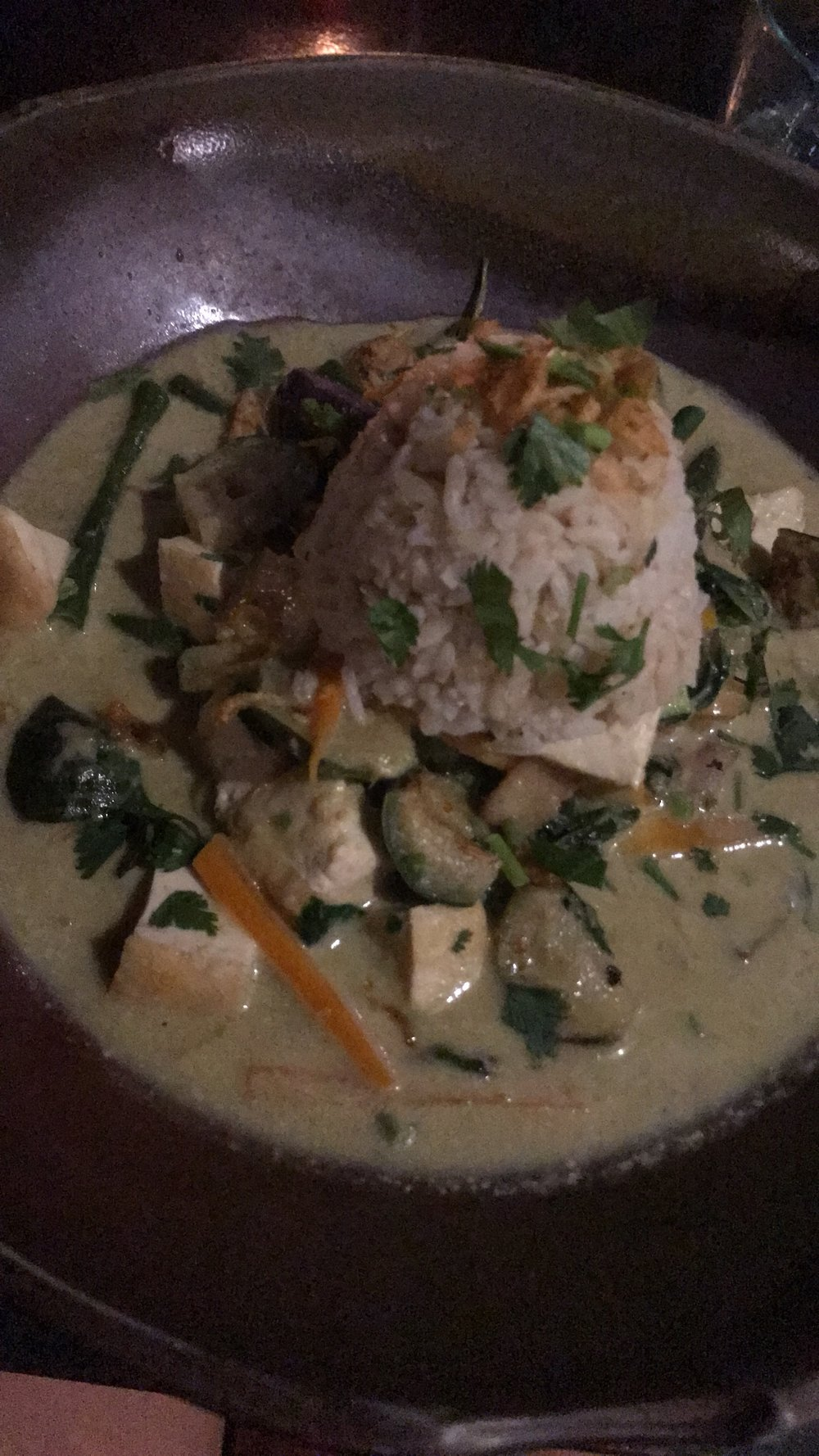 Moksa Thai Curry - sorry for the horrible lighting!