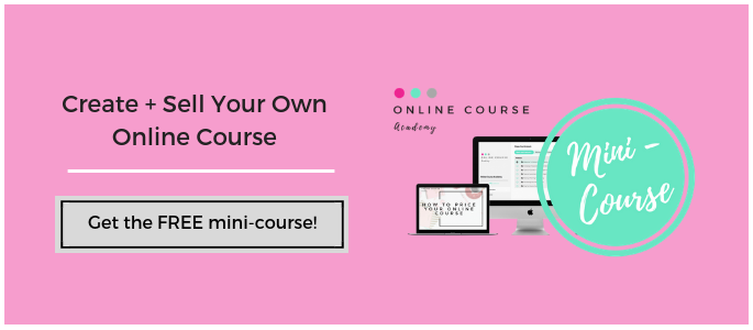 Create and sell your own online course
