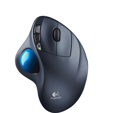 ...To a trackball mouse that lets your wrist stay static...
