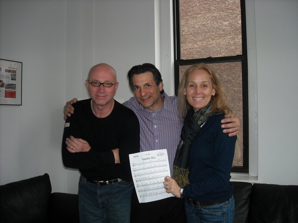 Bruce, John Patitucci, and Janey in NYC working on      Fallen For Brazil