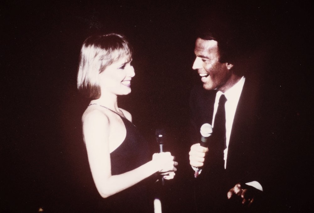 Janey with Julio Iglesias