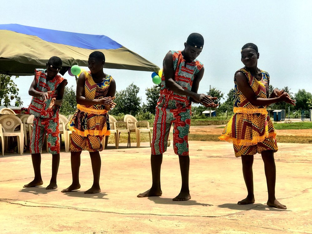 MTC students perform a traditional dance.