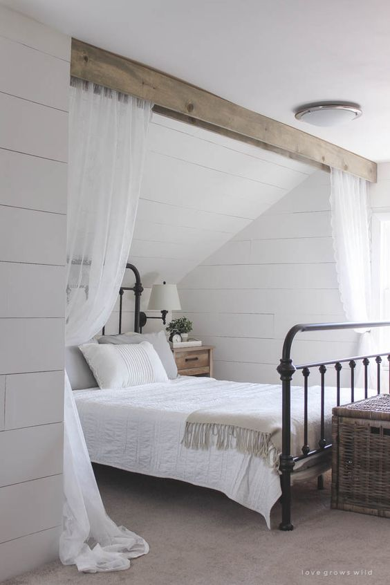 Jules and Louis Blog | wood beam interiors - dreamy bedroom