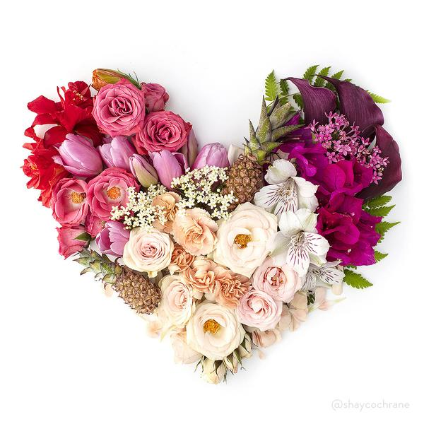 Jules and Louis Blog | Every Day Is Valentine - floral heart
