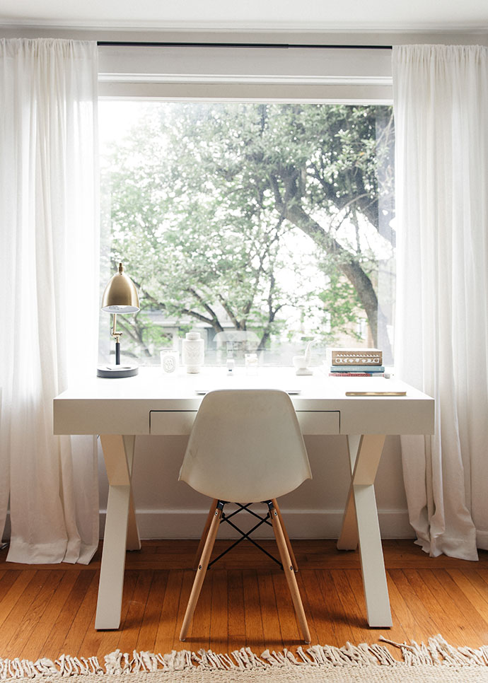 Jules and Louis Blog - A Pretty Dream Home in Sausalito - home office with a view