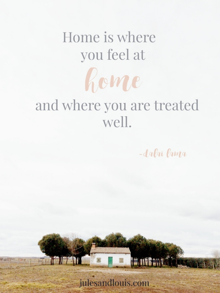 Jules and Louis Blog - What Home Means To Me - a little white house