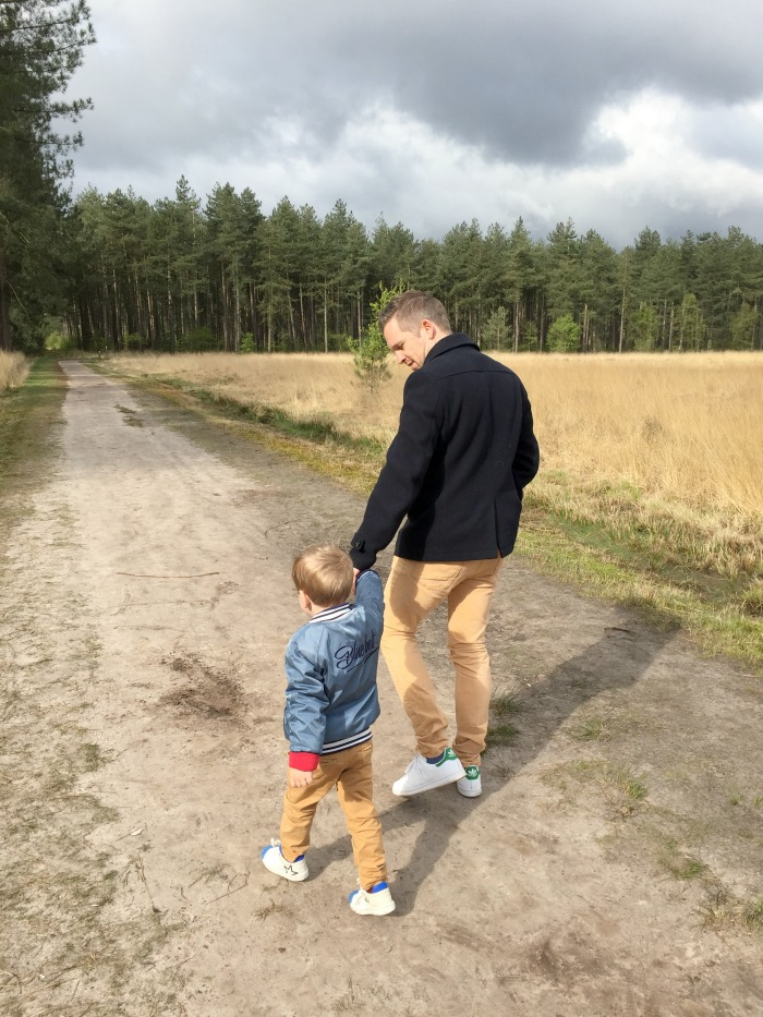 Jules and Louis Blog - On Being a Mother - daddy and the little one walking