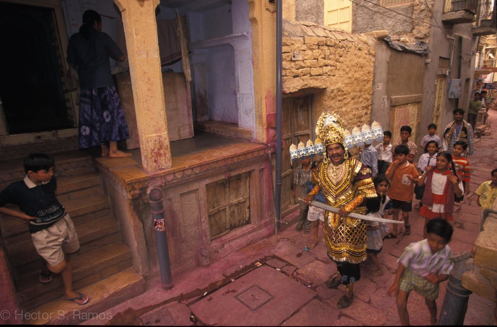 Ravana. Jaisalmer. Nikon F5, AFD 20-35mm f2.8 lens, Provia 100.