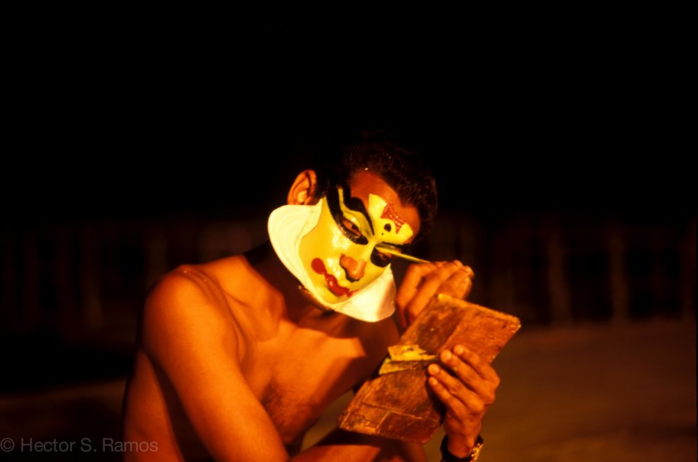 Kathakali dancer. Kumarakom, Kerala.  Photo: Leica MP, 75mm Summilux, Provia 100.