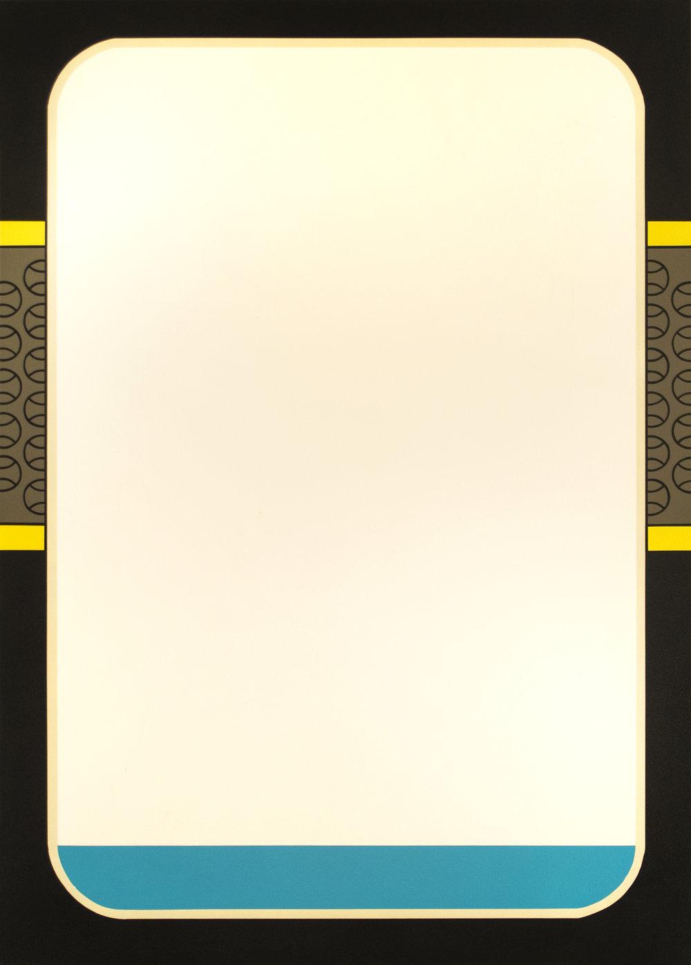 """Donruss '87  Acrylic on Canvas 50"""" x 36"""" 2016"""