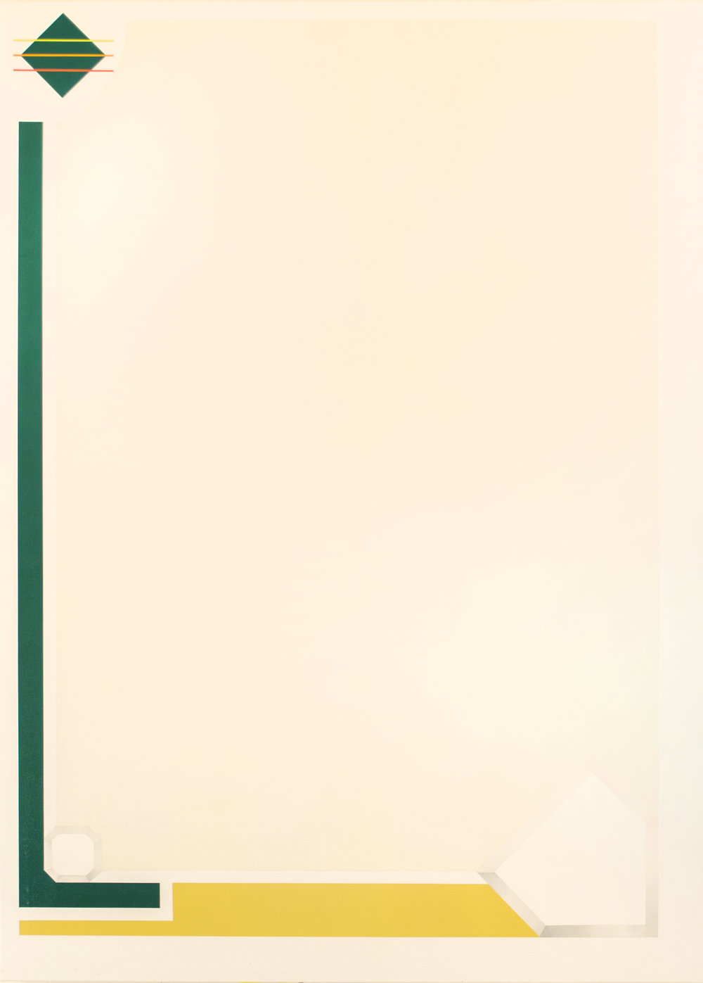 "Upper Deck '91  Acrylic on Canvas 50"" x 36"" 2016"