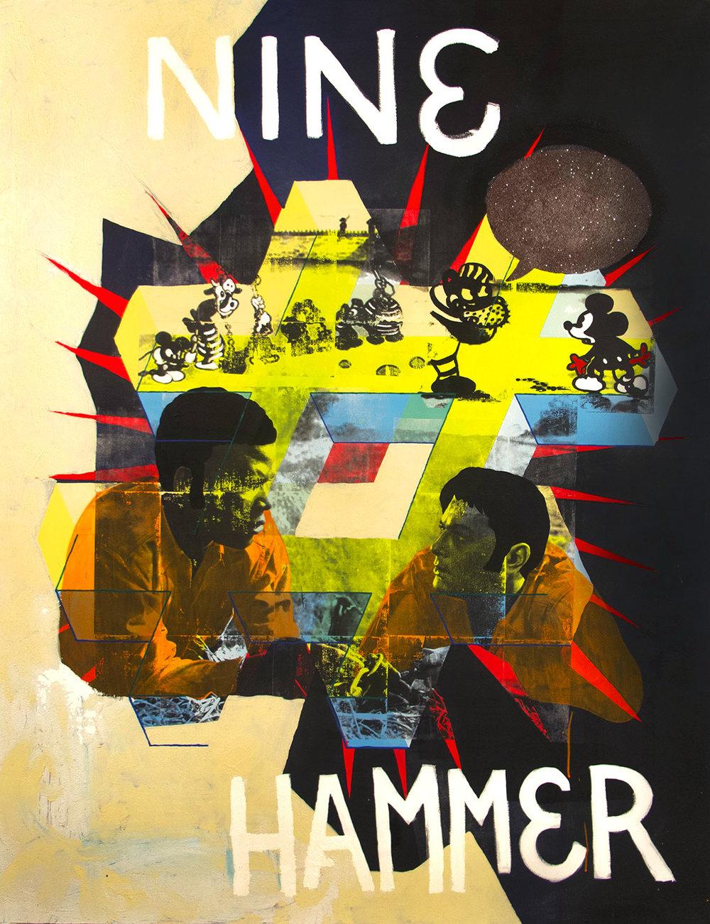 "Nine Pound Hammer  Acrylic on Canvas 64"" x 50"" 2015"