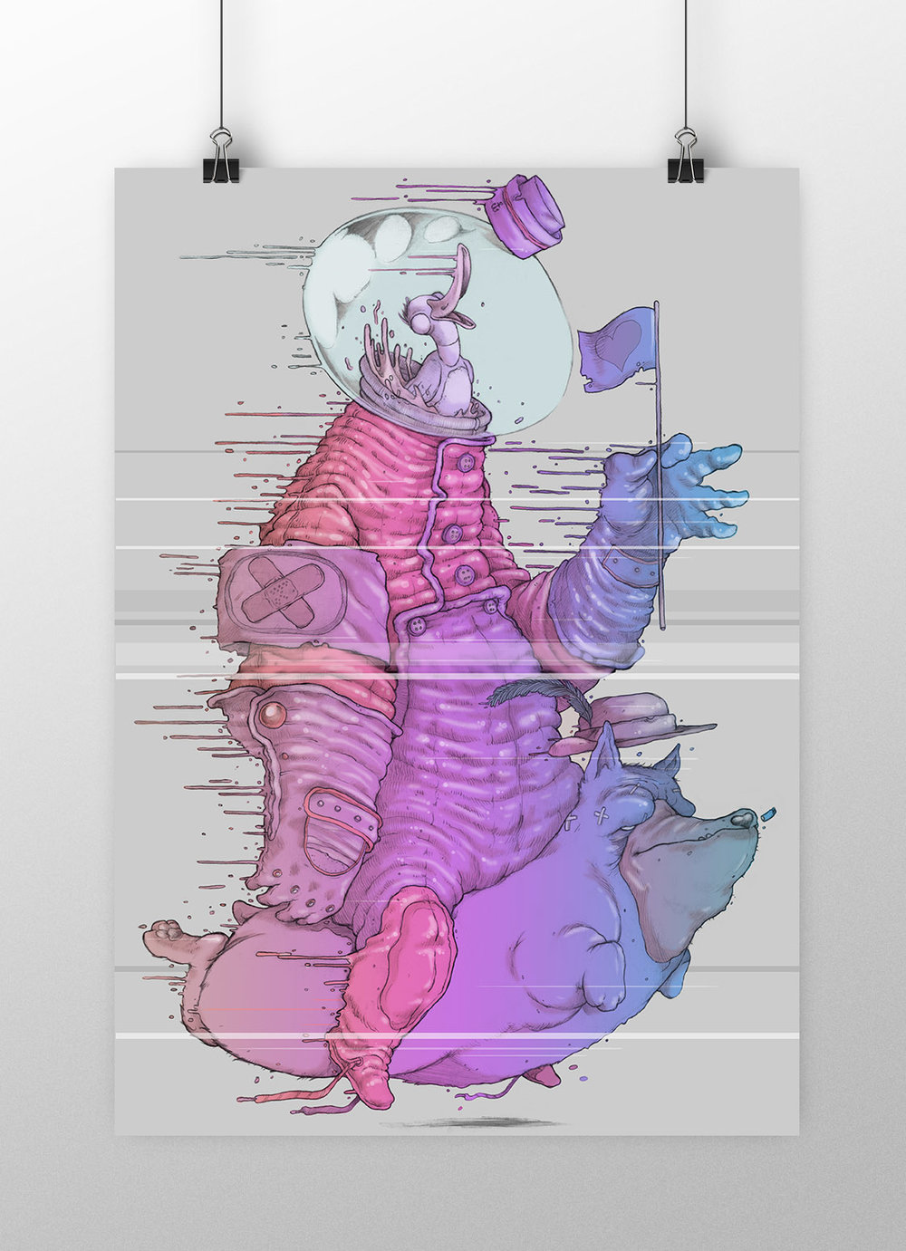 DEAD EYE DUCK |A3 PRINT    MATT FINISH ON 330G PAPER    SIGNED BY ARTIST    LTD RUN 50