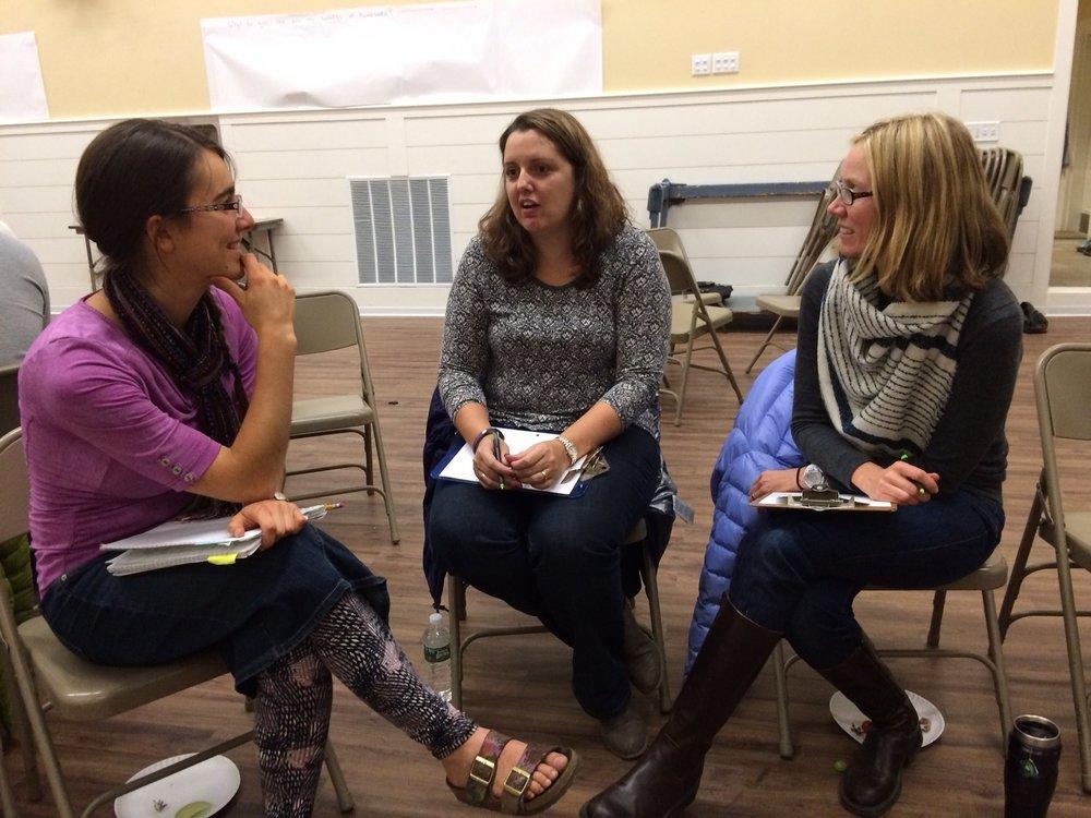 From left to right: Joy Sanders, Sara Lussier, Krissy Pozatek