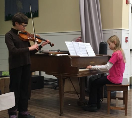 Aurora and Maaike performed a terrific instrumental duet in Assembly recently.