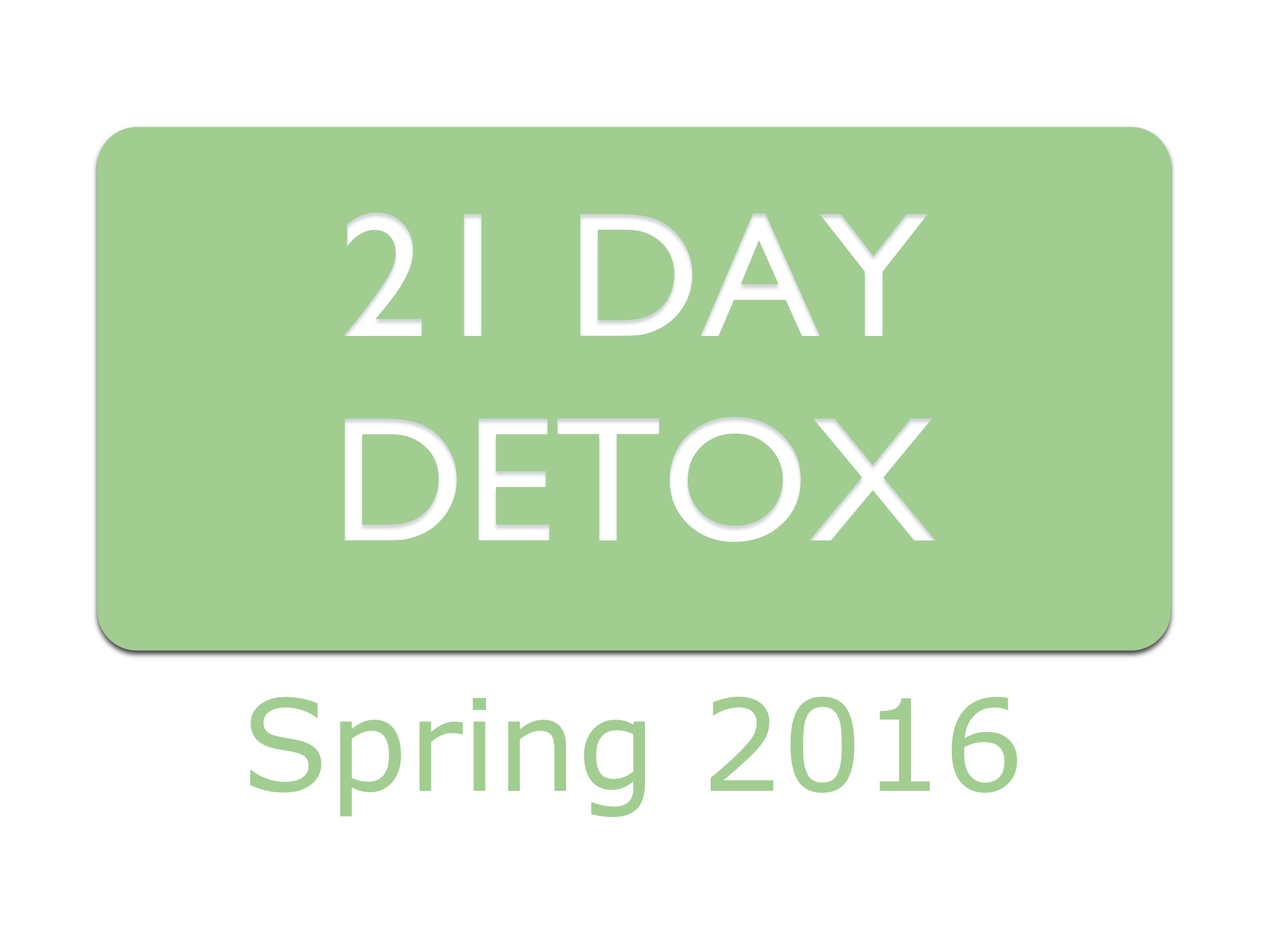 Food Foundation 21 Day Detox Badge Spring 2016 - Preview