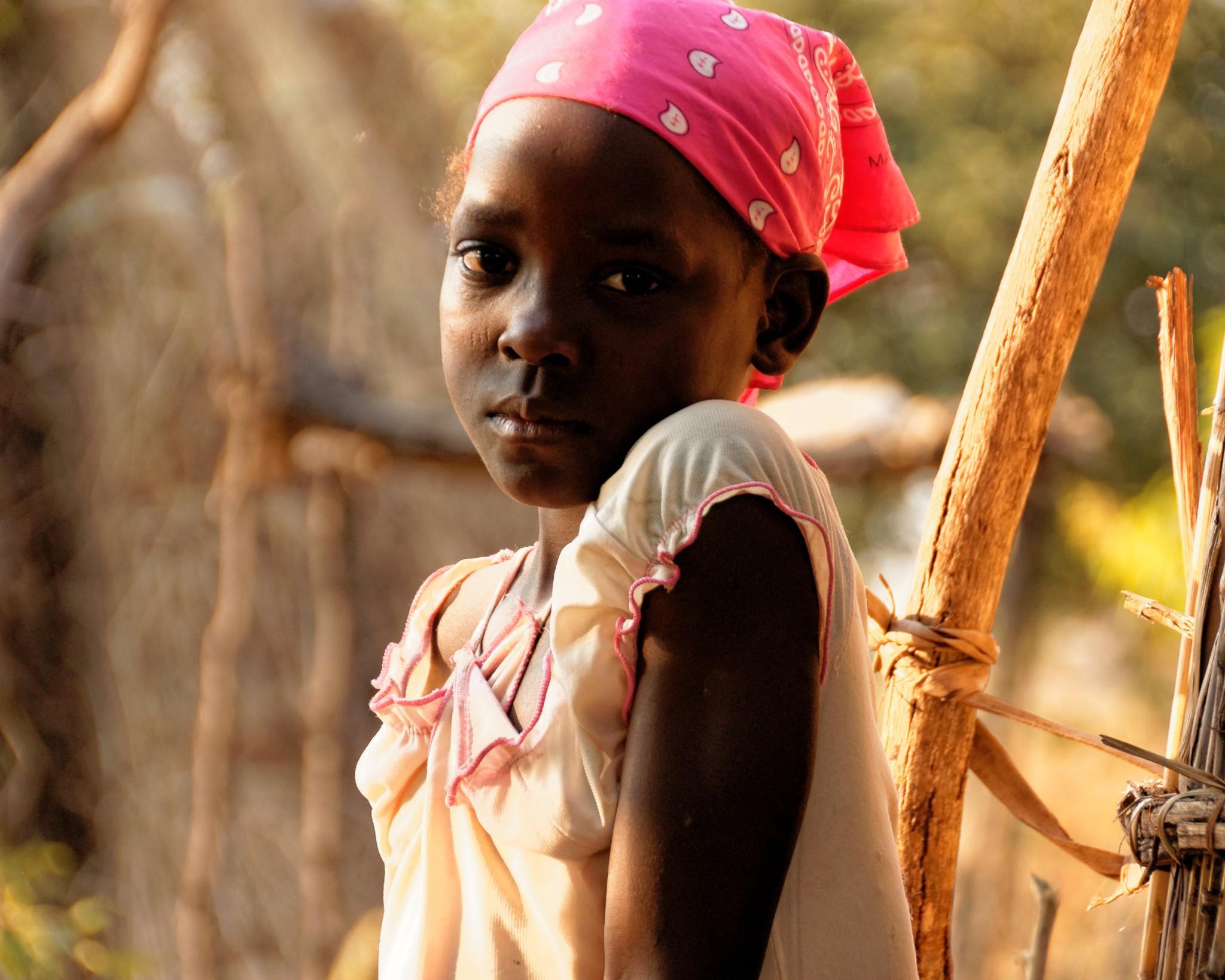 Young girl near Mwanya Bushcamp 1