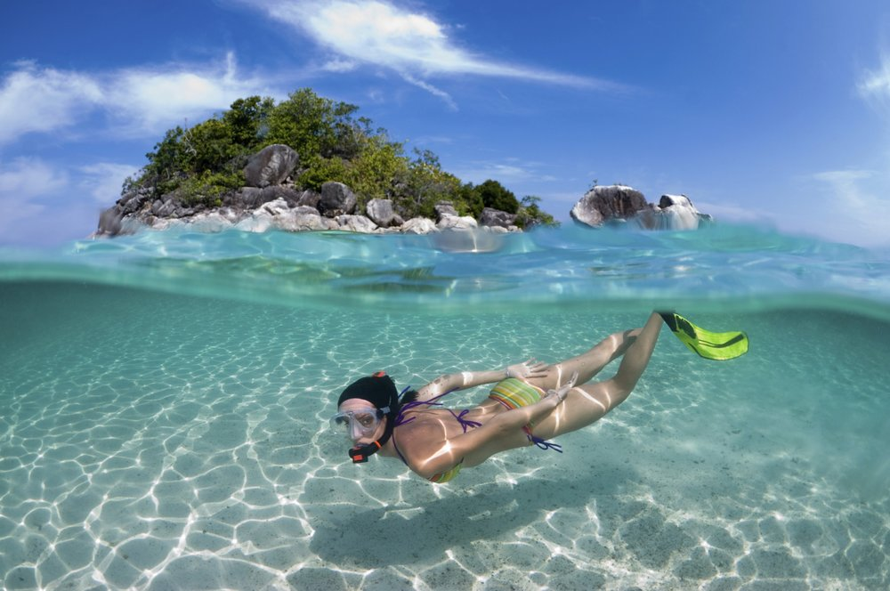 Go snorkelling in crystal clear waters