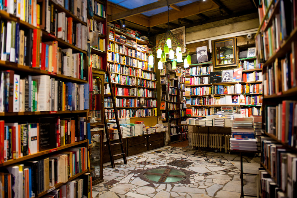 Shakespeare and company bookshop interior