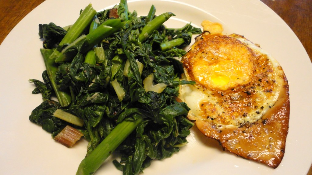 Sauteed Swiss Chard and Asparagus