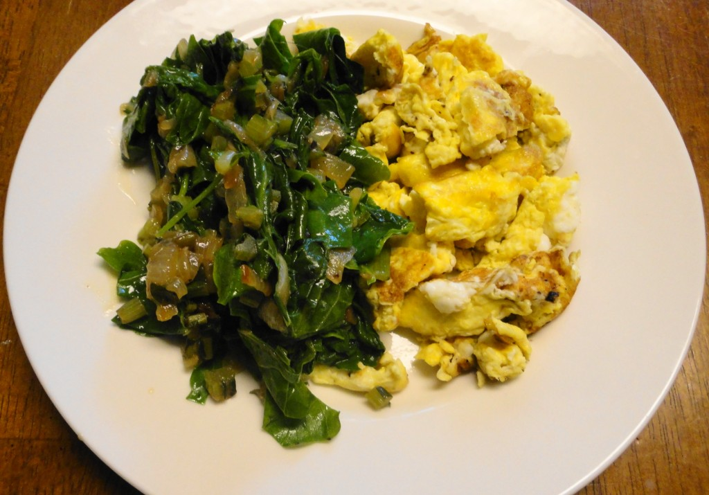 Sauteed Greens and Scrambled Eggs