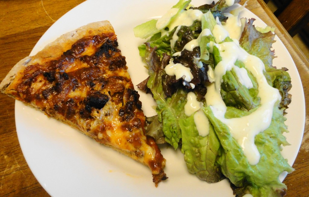 Pizza with Salad
