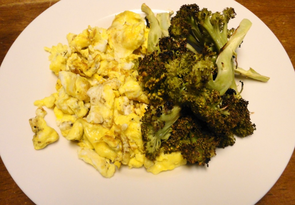 Roasted Broccoli and Scrambled Eggs