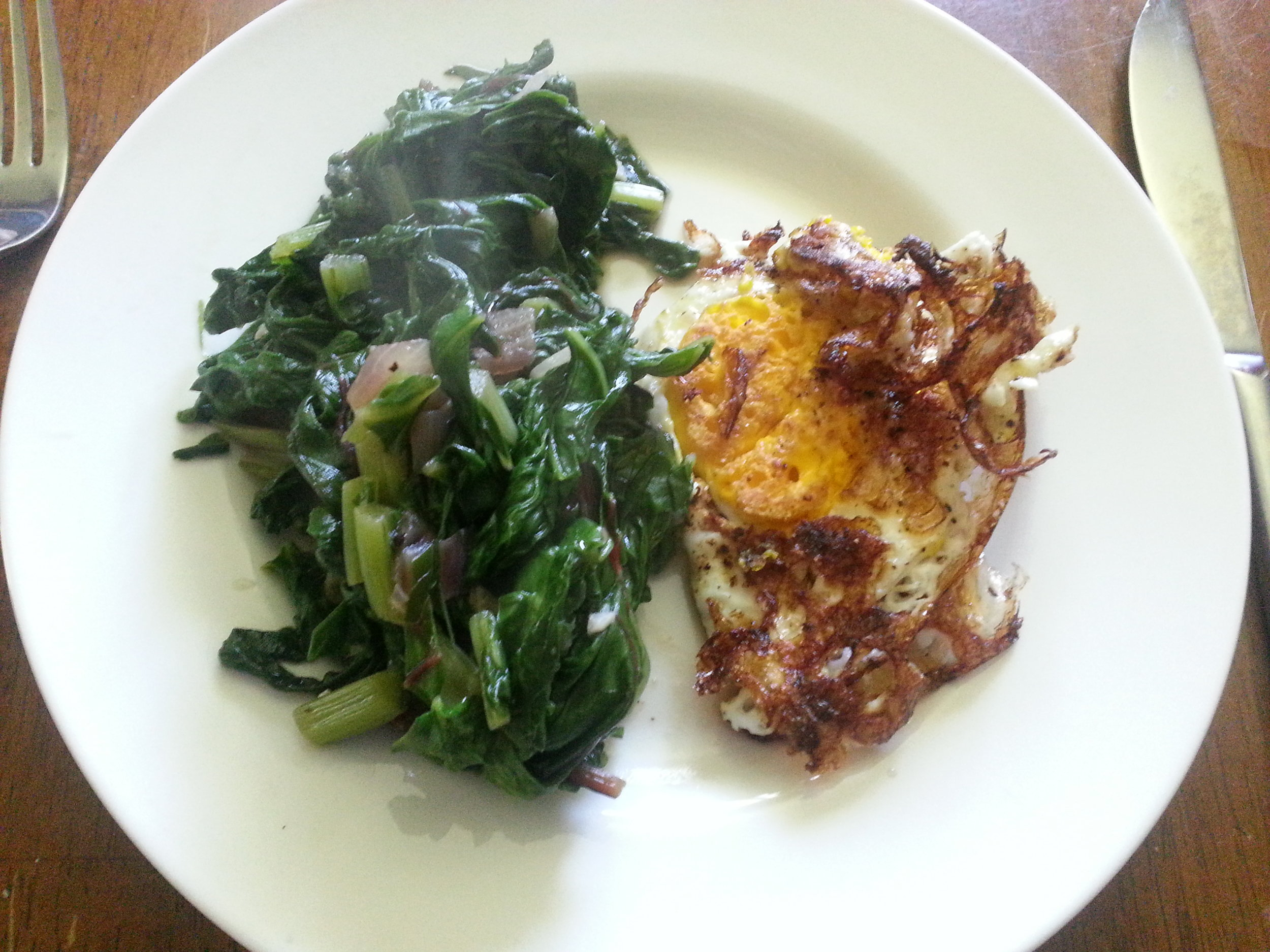 Swiss Chard and Fried Egg