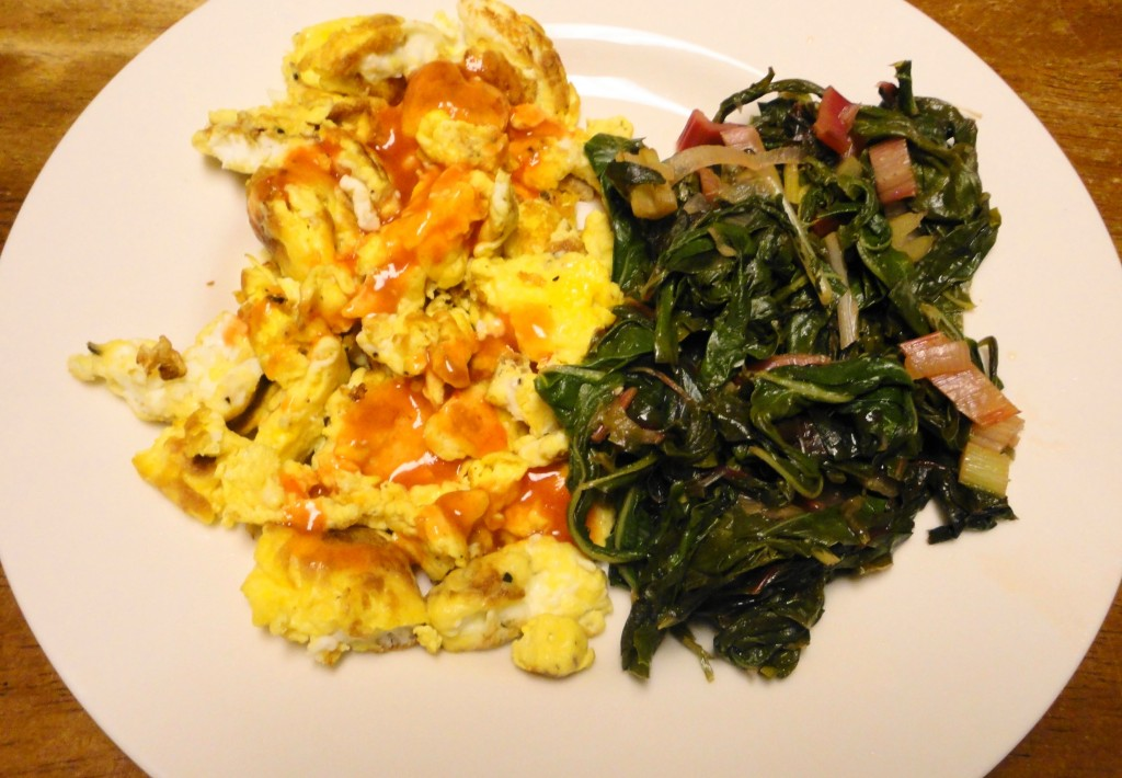 Swiss Chard and Scrambled Eggs